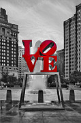 Fountain Digital Art Photos - Love Park II by Susan Candelario