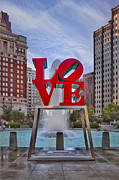 Fountain Digital Art Photos - Love Park by Susan Candelario