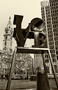 Cities Tapestries Textiles Originals - Love Philadelphia by Jack Paolini