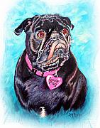 Tag Paintings - Love Pug by Donna Proctor