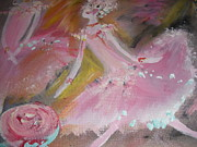 Ballet Dancers Paintings - Love Rose ballet duet by Judith Desrosiers
