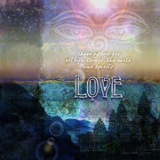Eyes Art - LOVE Spiritual by Evie Cook