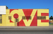 Mile Prints - LOVE Store Front Print by David Kyte