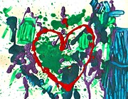 Trashed Prints - Love Survives a Trashy Time Print by Sharon Mick