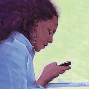 Texting Painting Prints - Love Text Print by Neil McBride
