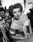 1950 Movies Photo Metal Prints - Love That Brute, Jean Peters, 1950 Metal Print by Everett