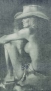 Nude Drawings Prints - Love Those Cowgirls Print by Frances Marino