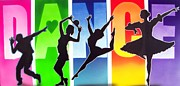 Tap Posters - Love to Dance Poster by Amatzia Baruchi
