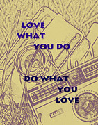 Encouragement Posters - Love What You Do Do What You Love Poster by Nomad Art And  Design