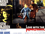 1960s Poster Art Posters - Love With The Proper Stranger, Natalie Poster by Everett