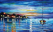 Yacht Painting Originals - Love With The Sea by Leonid Afremov