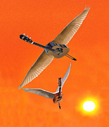 Flying Guitars Digital Art - Love You I Do by Eric Kempson