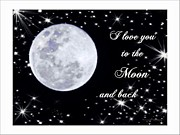 Missing Child Digital Art Prints - Love you to the moon and back Print by Michelle Frizzell-Thompson