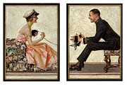 Femme Framed Prints - Lovebirds 1919 Framed Print by Stefan Kuhn