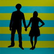 Lovebirds In Silhouette Print by Ramey Guerra