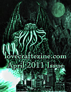 Horror Digital Art - Lovecraftzine Coverpage April by Mimulux patricia no