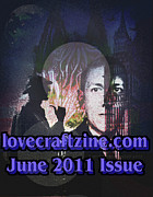 Lovecraft Prints - Lovecraftzine Coverpage June Print by Mimulux patricia no