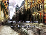 Horror Digital Art - Lovecraftzine Coverpage March by Mimulux patricia no