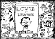 Book Title Originals - Loved by Everyone by Bashar Assad book cover cartoon by Yasha Harari