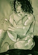 Male Nudes Drawings Prints - Lovel lovely Stewart Print by Joanne Claxton