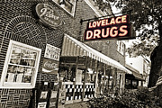 Ocean Springs Posters - Lovelace Drugs Poster by Scott Pellegrin