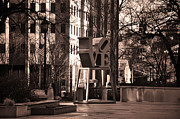 Love Park Framed Prints - Lovely Framed Print by Bill Cannon