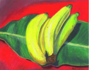 Banana Pastels Prints - Lovely Bunch of Bananas Print by Arlene Crafton