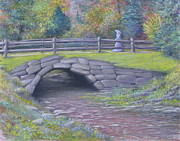 Park Scene Pastels Prints - Lovely Day at Idewild Park Print by Penny Neimiller