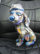 Blue Sculptures - Lovely Dog by Sima Amid Wewetzer