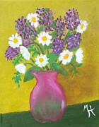 Vase Of Flowers Prints - Lovely Lavender Print by Margaret Harmon