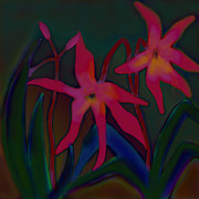 Lily Digital Art Originals - Lovely Lilies by Latha Gokuldas Panicker