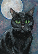 Familiars Metal Prints - Lovely Luna Metal Print by Cameron Reutzel