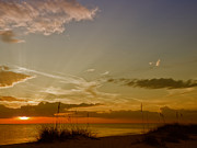Panoramic Digital Art - Lovely Sunset by Melanie Viola