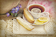 Biscotti Photos - Lovely Tea Party by Cheryl Davis