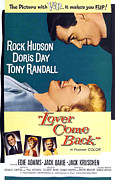 1960s Poster Art Posters - Lover Come Back, Rock Hudson, Doris Poster by Everett