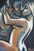 Lovers Paintings - Lovers - Fatal Attraction by Carmen Tyrrell