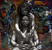 African-american Digital Art - Lovers by Fern Logan