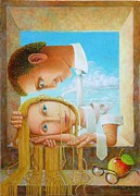 Lovers Paintings - Lovers by Giuseppe Mariotti