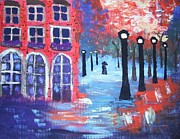 Jordan Art Paintings - Lovers Lane by Jeannie Atwater Jordan Allen