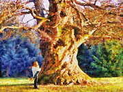 Big Tree Prints - Lovers Tree Print by Jai Johnson