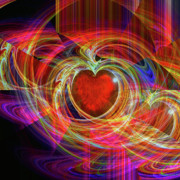 Abstract Hearts Digital Art - Loves Joy by Michael Durst