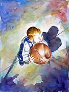 Basketball Paintings - Loves the Game by Shannon Grissom