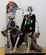 Found Object Art Sculptures - Lovin You Forever And Beyond by Keri Joy Colestock
