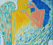 Citron Paintings - Loving An Angel by Ana Maria Edulescu