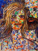 Couples Paintings - Loving Couple by Natalie Holland