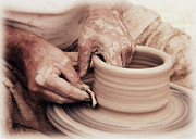 Master Potter Prints - Loving hands creation Print by Emanuel Tanjala
