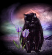 Kitty Mixed Media Prints - Loving My Kitty Print by Carol Cavalaris