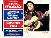 1950s Portraits Posters - Loving You, Elvis Presley, 1957 Poster by Everett