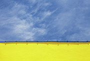 Vibrant Color Art - Low Angle Close Up View Of A Wall And Sky by Sean Russell