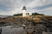 Low Angle View Of The Marshall Point Lighthouse Maine Print by George Oze